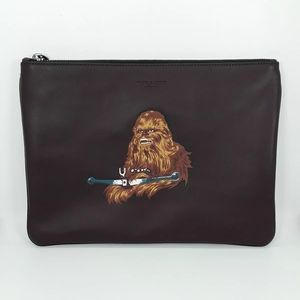 NWT Coach X Star Wars Large Leather Pouch - F8833